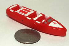 Small Micro Machine Old Wooden Style Speed Boat in Red and White