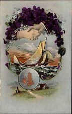 Schiffe 1913 Schweiz Barque Segelschiff Postcard Stempel Celerina Graubünden