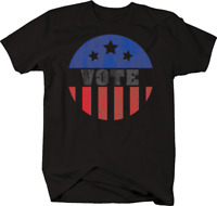 Vote American Flag Circle Freedom Right 'Merica USA Constitution T-shirt