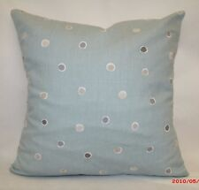 "2 X CLARKE & CLARKE CUSHION COVERS. DESIGN IS ""SEASIDE SPOT"" 100%COT 16""x16"""