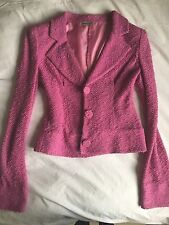 EMPORIO ARMANI Fitted waist women's blazer in Pink Purple colour Glamorous