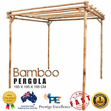Outdoor Garden Bamboo Pergola Climbing Plants Arbour Carport Decor 195x195x195cm