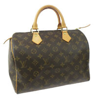 LOUIS VUITTON SPEEDY 30 HAND BAG PURSE MONOGRAM CANVAS AA0033 M41526 33150