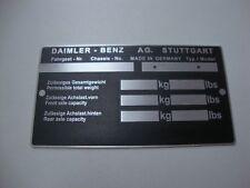 Typenschild Mercedes  DAIMLER