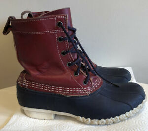 LL BEANS UNISEX KIDS 5M RED LEATHER BOOTS USA
