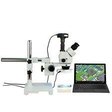 Omax 3.5X-90X 720p WiFi Digital Stereo Boom Zoom Microscope+56 Led Ring Light