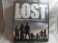LOST SEASON 1 THRU 5 COLLECTORS BINDER WITH PROMO P8