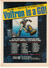 Voltron 1984 Ad- Voltron is a GO! Anime/ 13 out of the top 20 markets sold!
