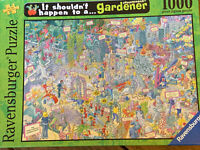 "Ravensburger 1000Pcs Jigsaw Puzzle ""It Shouldn't Happen to a Gardener"" Complete"