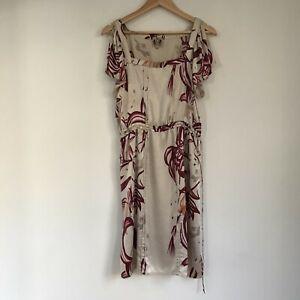 Little Joe Gail Elliott New York Womens Dress, Size Medium, Pure Silk Floral