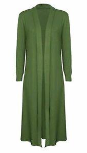 New Ladies Women Long Sleeve Maxi Boyfriend Cardigan Open Cardigans Floaty