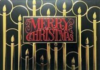 "Boxed Merry Christmas Cards Foil Design 5.5"" x 8"", 16 Cards & 17 White Envelopes"