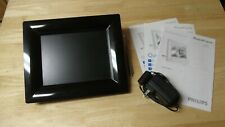 "Philips 8FF2FPB / 8FF2FPW 8"" Black Digital Photo Frame 8"" LCD Screen w/Manuals"