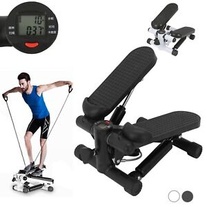 Mini  LCD Display Twist Stepper Exercise Arm Cords Stair Climber Fitness Swing
