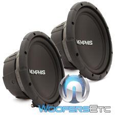 "(2) MEMPHIS SRX1040 10"" SUBS 400W SINGLE 4-OHM CAR SUBWOOFERS BASS SPEAKERS NEW"