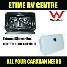 Coast to Coast Watermarked external shower box unit caravan--WHITE
