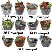 Flowerpot Resin Flower Pot Planter Succulent Plant Garden Bonsai Pots Home Decor