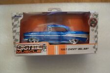 JADA BIGTIME MUSCLE 1957 Chevy Bel Air Blue 1:32