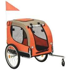 Rimorchio da Bici per Cani Arancione e Marrone N7C8