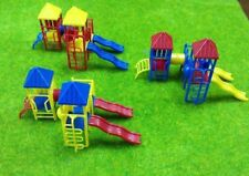 3 Sets HO 1:87 Scale Childrens Playground Park Slides Set for model train layout