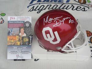 Marcus Dupree signed Oklahoma OU Sooners mini helmet JSA COA