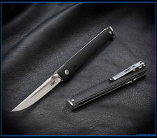 Crkt Ceo Liner Lock Knife Black Grn - Satin Blade Nib