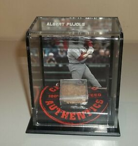 Certified Authentic Mounted Memories - Game Used Mound Dirt - Albert Pujols