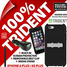 New Trident Kraken AMS Rugged Case for Apple iPhone 6/6S Plus + USB Car Charger