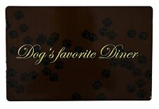 Trixie Non Slip Place Mat /Floor Mat / Food Bowl Dog/ Puppy 24548 Brown/ Black