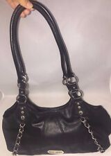 NINE WEST Black Faux Leather Man Made Materials Shoulder Bag Magnetic Snap Purse