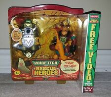 Rescue Heroes Voice Tech Wendy Waters Fisher Price Talking Toy + VHS Movie NEW