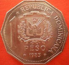 DOMINICAN REPUBLIC 1 PESO 1983 Dominicana Dominikanische Dominicaine Domenicana