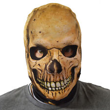 Fear The Reaper Skull Skeleton Design 3D Effect Face Skin Lycra Fabric Face Mask
