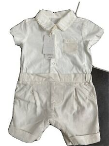 Mothercare Shorts/shirt All In One Baby Christening Occasion Formal 3-6 Months