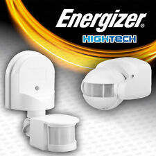 Outside Automatic PIR Motion Sensor Switch For Outdoor Security Wall Light WHITE