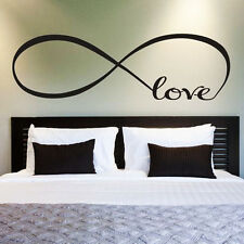 LOVE INFINITY Wall Lettering Words Art Decal Vinyl Quote Sticker Decor DIY