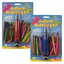1 pack COLORED MODELLING BALLOONS KIT SET WITH BALLOON PUMP KIDS PARTY CRAFTS