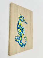 Acrylic Painting Abstract Seahorse Canvas Nautical Style Home Decor Wall Art
