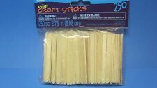 MINI UNFINISHED WOOD CRAFT POPSICLE STICKS FOR DOORS/FENCE 250 PC FAIRY GARDEN