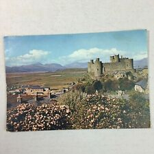 Harlech Castle Merionethshire Wales Posted Postcard 1959 50s