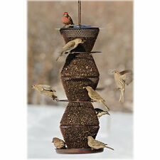 No/No Bronze 5 Tier Bird Feeder (BZ500333) Holds 5 Lb+ Black Oil Sinflower Seed