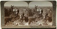Grande Guerre Guerra Mondiale Francia Belgium UK Germania Stereo Foto Vintage