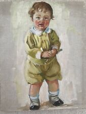 H Christie Victorian Turn of Century Child Original Oil Painting Adorable 10x13