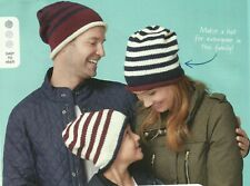 KNITTING PATTERN FOR BEANIE HATS - ADULTS AND CHILDRENS SIZES  (bds)