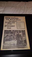 Buck Owens TV Ranch Show Rare Original 1968 Promo Poster Ad Framed!