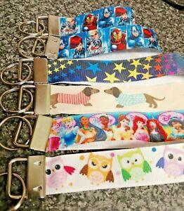 Personalised Wristlet Keyring, Key Fob, Key Wrist Strap Lanyard gift idea design