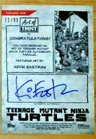 2019 TOPPS ART OF TEENAGE MUTANT NINJA TURTLES GREEN AUTO KEVIN EASTMAN #11/99
