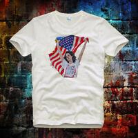 American Flag Lana Del Rey tee top Retro Vintage Unisex& Ladies T Shirt B556