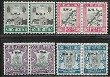 SOUTH AFRICA STAMPS #B1-B4 PAIR (HINGED) FROM 1933-36