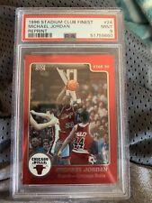 1996-97 Stadium Club Finest Michael Jordan 1984 Star Reprint #24 PSA 9